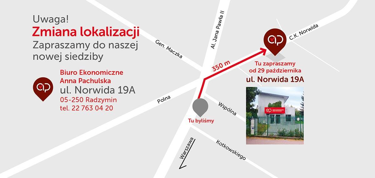 Nowa lokalizacja Biura Ekonomicznego na ul. Norwida 19A Radzymin